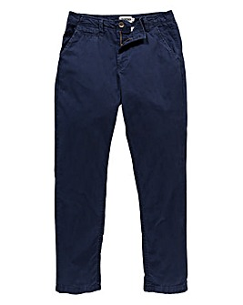 Jacamo Navy Stretch Tapered Chino 29in