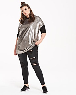 Daisy Street Sequin Top