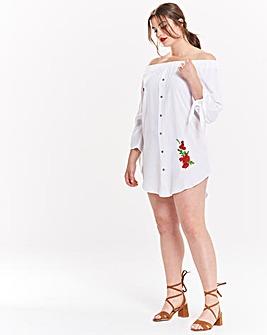 AX Paris Embroidered Off Shoulder Dress