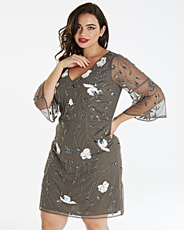 Maya Curve Floral Emellished Dress