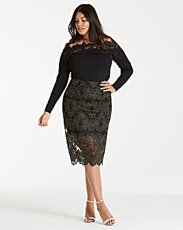 Coast Layla Lace Pencil Skirt