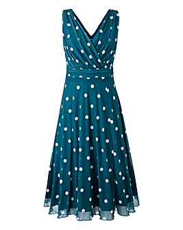 Scarlett & Jo Polka Dot Mesh Dress
