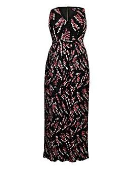 Lovedrobe Print Pleated Maxi Dress