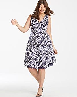 Lovedrobe Jacquard Lace Trim Dress