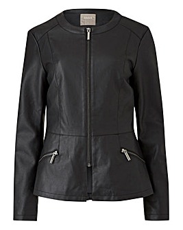 Oasis Curve Faux Leather Jacket