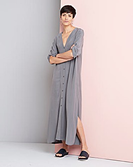 Concept Convertible Cupro Shirt Dress