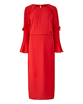 Oasis Curve Flute Sleeve Shift Dress