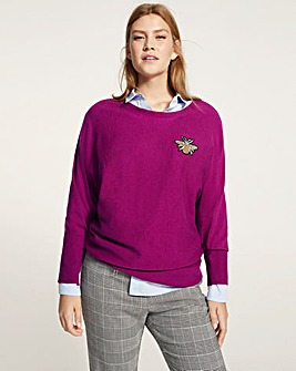 Violeta by Mango Bee Badge Knit