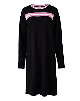 Junarose Contrast Sports Stripe Dress