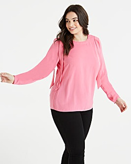 Junarose Pink Shell Blouse