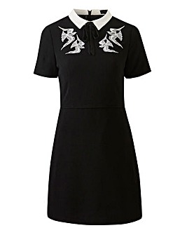 Oasis Curve Embroidered Shift Dress