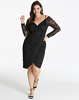 AX Paris Curve Midi Length Lace Dress