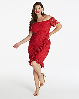 AX Paris Curve Bardot Frill Dress