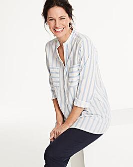 Vero Moda Linen Blend Stripe Shirt