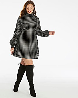 Fashion Union Checked Skater Dress
