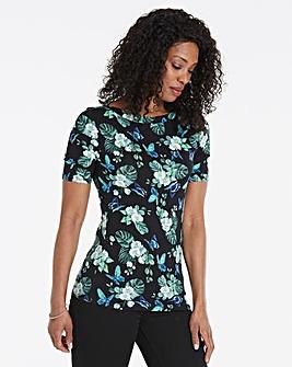 Oasis Curve Begonia Print Tee