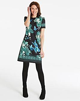 Oasis Curve Kentia Placement Shift Dress