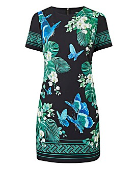 Oasis Curve Kentia Placement Shift Dress