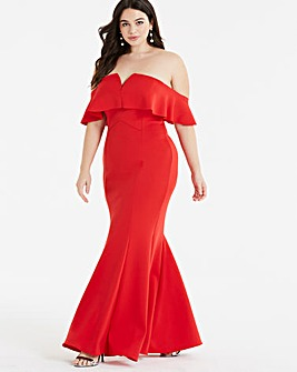 Coast Sade Scuba Maxi Dress