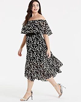 Coast Ada Mono Midi Dress
