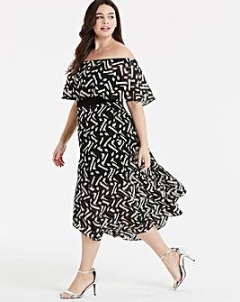 Coast Ada Mono Midi Dress