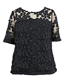 Lovedrobe 3D Lace Detail Top