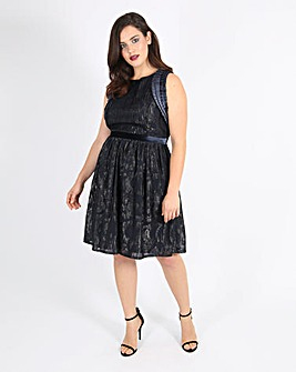 Lovedrobe Pleated and Velvet Dress