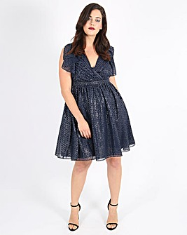 Lovedrobe V-Neck Dress with Ruffles