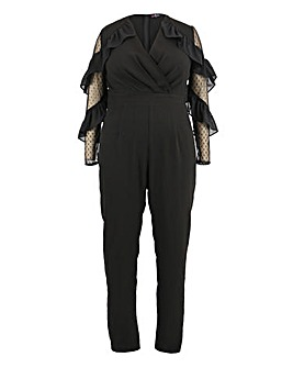 Lovedrobe Jumpsuit with Mesh Sleeves