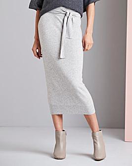 Concept Cashmere Blend Midi Skirt