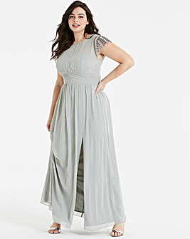 Little Mistress Embroidered Maxi Dress