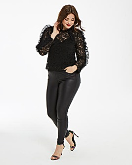 AX Paris Lace Top With Frill Detail