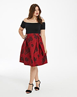AX Paris Curve Two In One Printed Dress