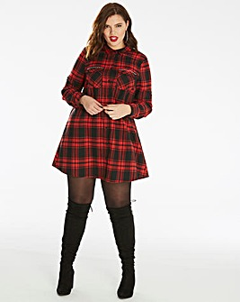 Unique 21 Checked Swing Dress