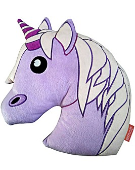 Emoji Unicorn Shaped Cushion