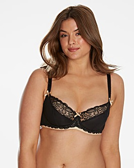 CurvyKate Ellace Black/Champ Balcony Bra