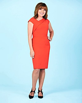 Lorraine Kelly Asymmetric Neckline Dress