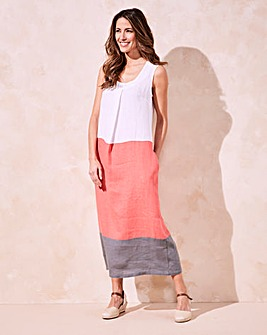 Eden Rock Linen Colour Block Dress
