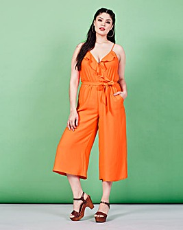 Simply Be Ruffle Wrap Jumpsuit
