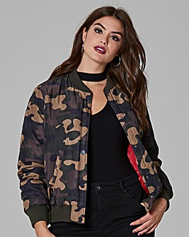 Simply Be Camouflage Bomber Jacket