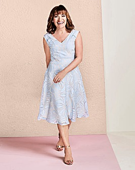Lorraine Kelly Burnout Fit & Flare