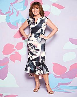 Lorraine Kelly Peplum Hem Scuba Dress