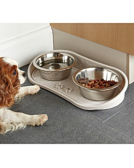 No Mess Dog Bowl Tray