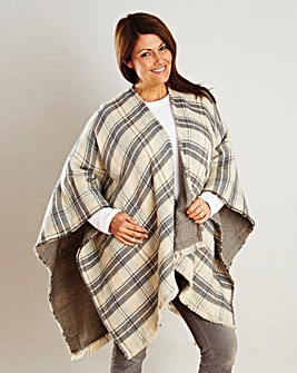 Grey Check Cape