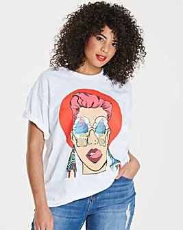 Ax Paris Curve Pop Art Printed Tshirt