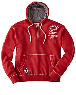 Joe Browns Zip Neck Euro Tour Hoody