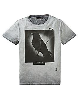 Religion Black Raven T-Shirt Long