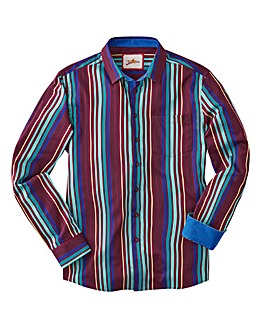 Joe Browns Party Stripe Shirt Reg