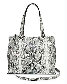 Snake Shopper Bag with Shoulder Strap