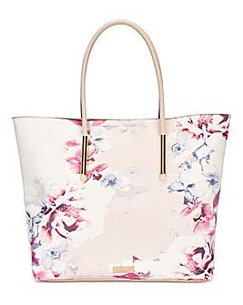 Lipsy Nude Floral Shopper